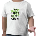 Soy - personalizar alérgico con la alergia del niñ camiseta