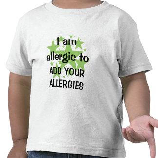Soy - personalizar alérgico con la alergia del camiseta