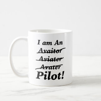 Soy piloto taza básica blanca