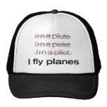 Soy piloto/yo vuelo los aviones gorras de camionero