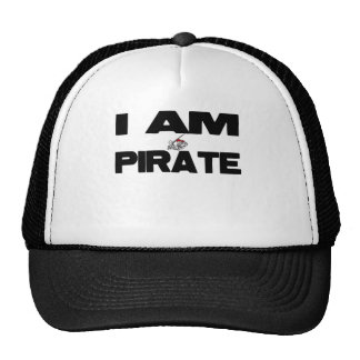 Soy pirata gorros bordados