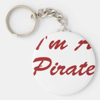 Soy pirata llavero redondo tipo pin