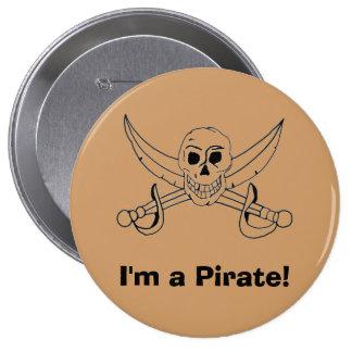 ¡Soy pirata! Pin Redondo De 4 Pulgadas