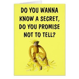 Soy plátanos para usted tarjeta de felicitación