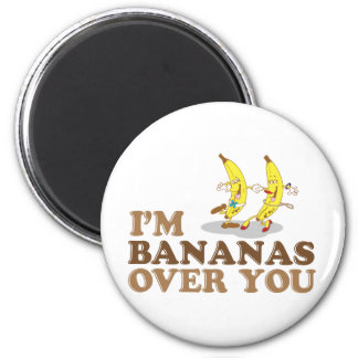 Soy plátanos sobre usted - los plátanos del baile imán redondo 5 cm