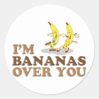 Soy plátanos sobre usted - los plátanos del baile pegatinas redondas