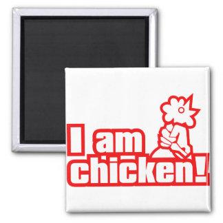 ¡Soy pollo! Imán Cuadrado