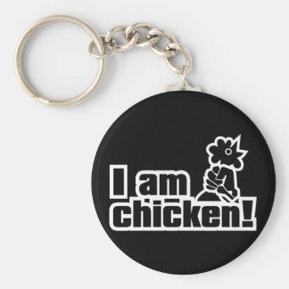 ¡Soy pollo! Llavero Redondo Tipo Pin