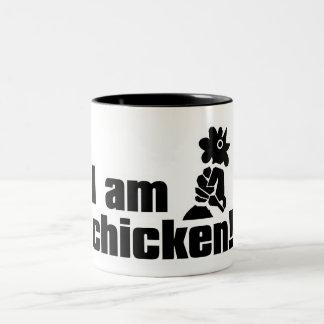 ¡Soy pollo! Taza De Dos Tonos