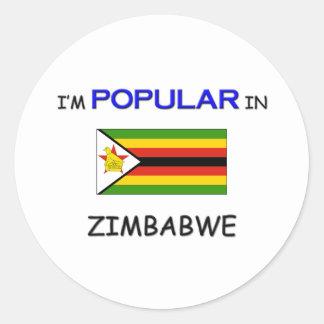 Soy popular en ZIMBABWE Pegatina Redonda
