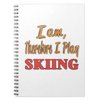 Soy por lo tanto yo juego el esquí libros de apuntes con espiral