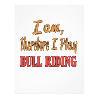 Soy por lo tanto yo juego el montar a caballo de plantilla de membrete