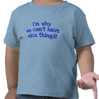 ¡Soy porqué no podemos tener Niza cosas!  camiseta