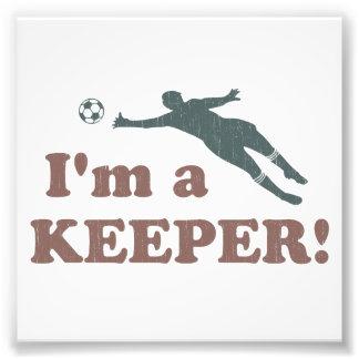 Soy portero del fútbol del encargado fotografía