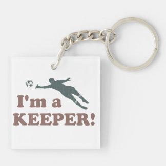 Soy portero del fútbol del encargado llaveros