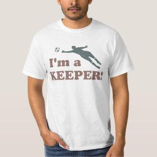 Soy portero del fútbol del encargado playeras