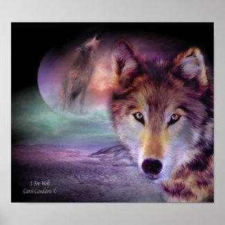 Soy poster/impresión del arte del lobo póster