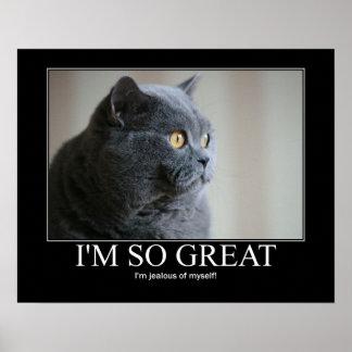 Soy poster tan grande de las ilustraciones del gat