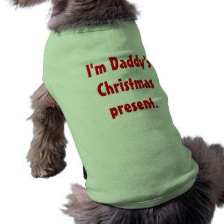Soy presente del navidad del papá camisetas de perro