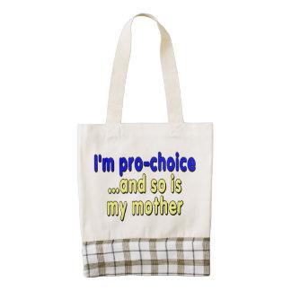 Soy proabortista… y así que soy mi madre bolsa tote zazzle HEART