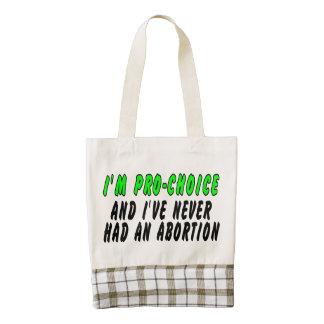 Soy proabortista, y nunca he tenido un aborto bolsa tote zazzle HEART