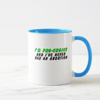Soy proabortista, y nunca he tenido un aborto taza