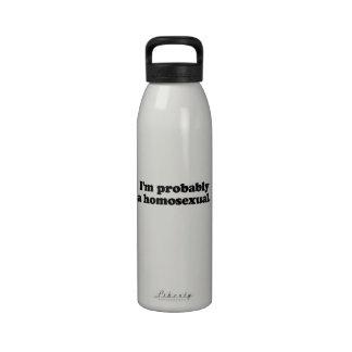 Soy probablemente un homosexual botella de agua reutilizable