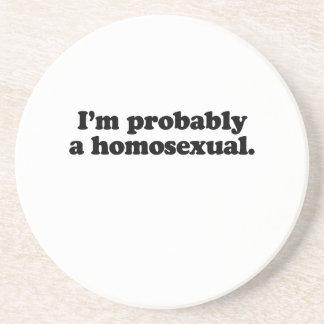 Soy probablemente un homosexual posavasos personalizados