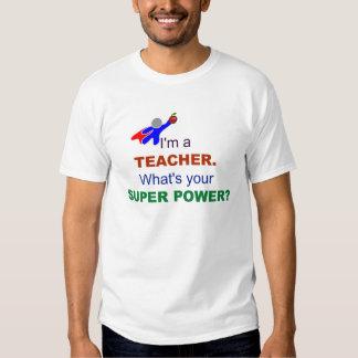 Soy profesor. ¿Cuál es su superpoder? Camisas