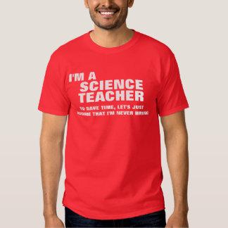Soy profesor de ciencias para ahorrar tiempo remera