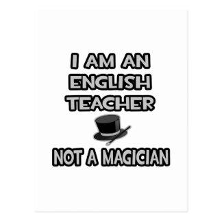 Soy profesor de inglés… no un mago postal