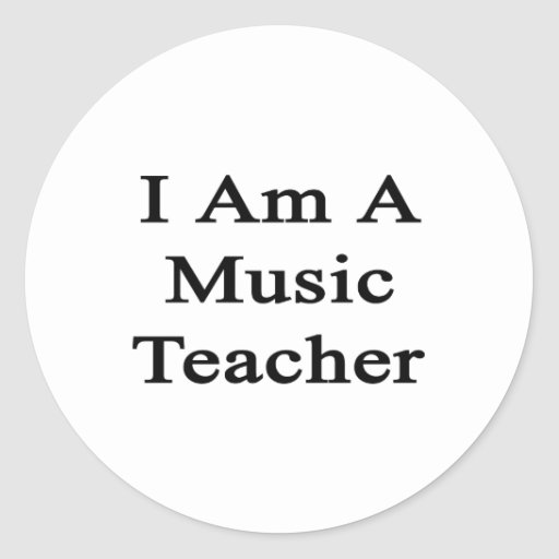 Soy profesor de música etiqueta
