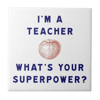 ¿Soy profesor [manzana] cuál es su superpotencia? Tejas Ceramicas