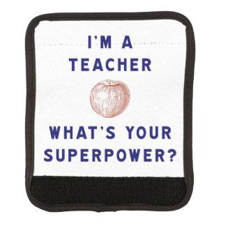 ¿Soy profesor [manzana] cuál es su superpotencia? Funda Para Asa De Maleta