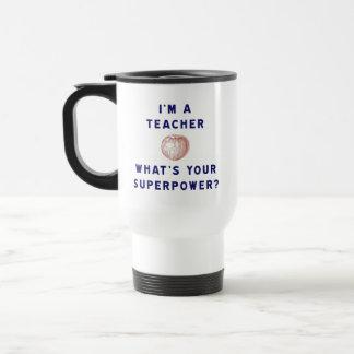 ¿Soy profesor [manzana] cuál es su superpotencia? Taza De Viaje