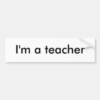 Soy profesor pegatina para auto
