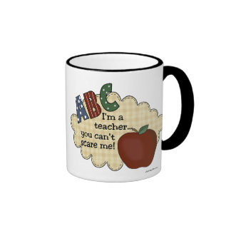 Soy profesor… que usted no puede asustarme taza de café