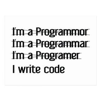 Soy programador. Escribo código Tarjeta Postal