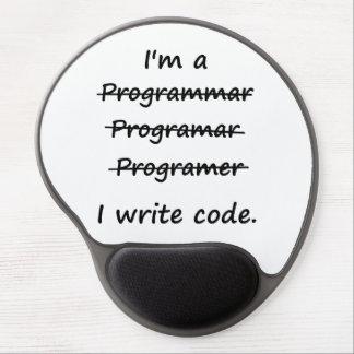 Soy programador que escribo el abecedario del malo alfombrilla de ratón con gel