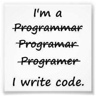 Soy programador que escribo el abecedario del malo fotografía