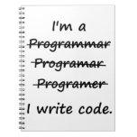 Soy programador que escribo el abecedario del malo libretas