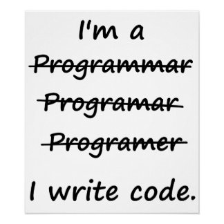 Soy programador que escribo el abecedario del malo