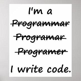 Soy programador que escribo el abecedario del malo póster