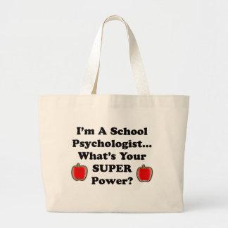 Soy psicólogo de la escuela bolsa tela grande