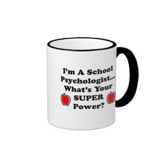Soy psicólogo de la escuela taza a dos colores