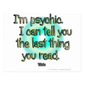 Soy psíquico. Puedo decirle la cosa pasada usted… Tarjetas Postales
