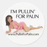 Soy Pullin para los pegatinas de Palin Etiqueta Redonda