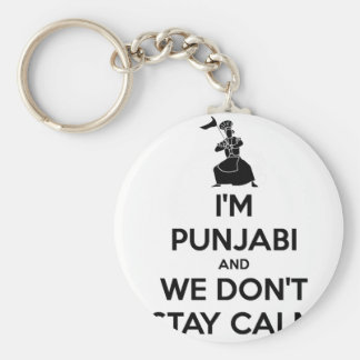 Soy Punjabi y no guardamos calma Llavero Redondo Tipo Pin