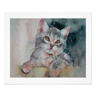 Soy Purrr-fect. Pequeño gatito. Impresión de la Cojinete