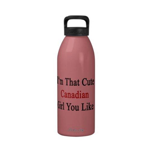 Soy que chica canadiense lindo que usted tiene gus botellas de agua reutilizables